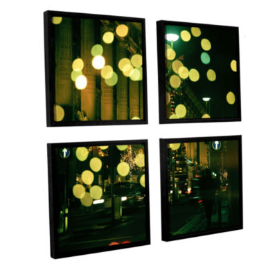 Brushstone Lights Oxford 4-pc. Square Floater Framed Canvas Wall Art