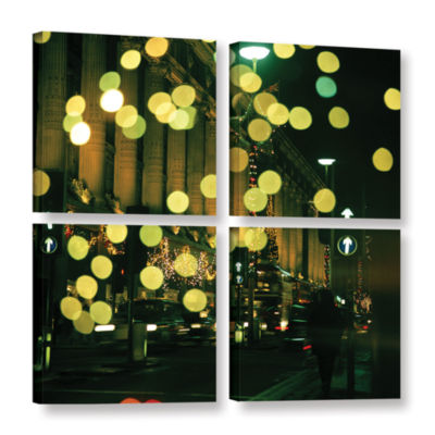 Brushstone Lights Oxford 4-pc. Square Gallery Wrapped Canvas Wall Art