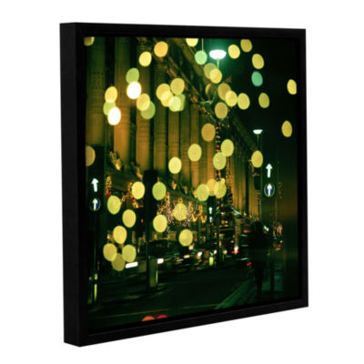 Brushstone Lights Oxford Gallery Wrapped Floater-Framed Canvas Wall Art