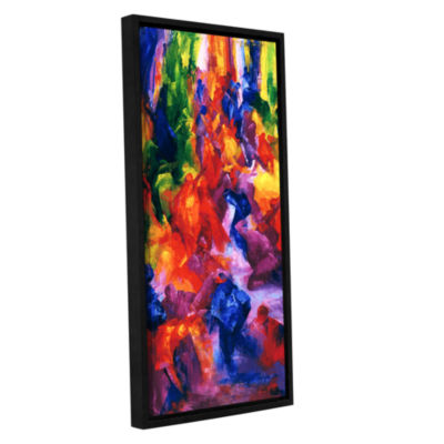 Brushstone Dance 2 Gallery Wrapped Floater-FramedCanvas Wall Art