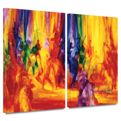Brushstone Dance I 2-pc. Gallery Wrapped Canvas Wall Art