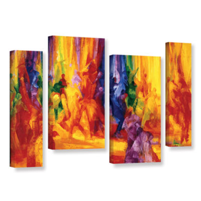 Brushstone Dance I 4-pc. Gallery Wrapped StaggeredCanvas Wall Art