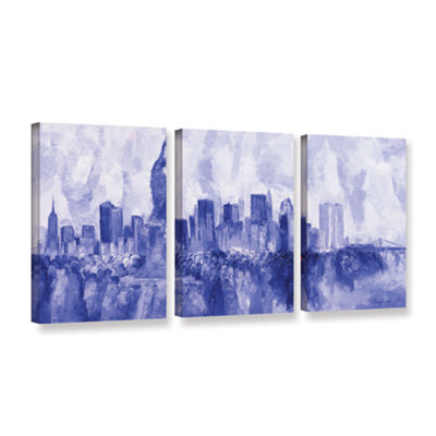 Brushstone NYC 2007 3-pc. Gallery Wrapped Canvas Wall Art