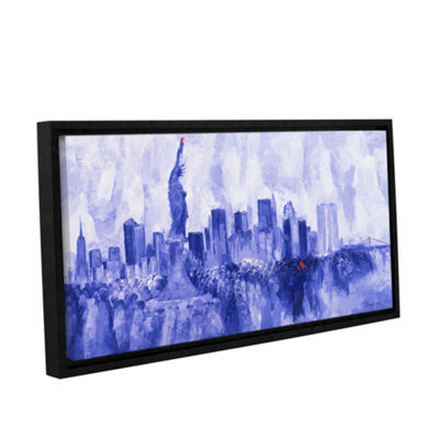 Brushstone NYC 2007 Gallery Wrapped Floater-FramedCanvas Wall Art
