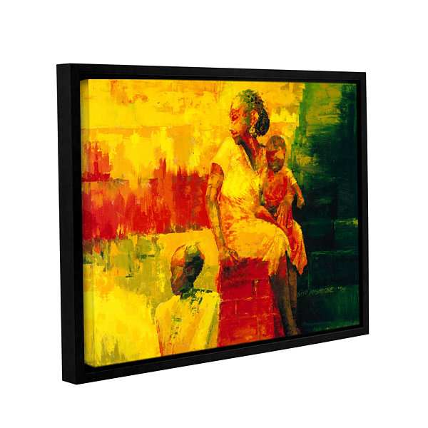 Brushstone What is it Ma? Gallery Wrapped Floater-Framed Canvas Wall Art