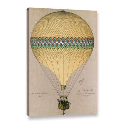 Brushstone The Balloon 'Le Tricolore' Ascending In1874 Gallery Wrapped Canvas Wall Art
