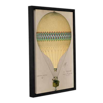 Brushstone The Balloon 'Le Tricolore' Ascending In1874 Gallery Wrapped Floater-Framed Canvas Wall Art