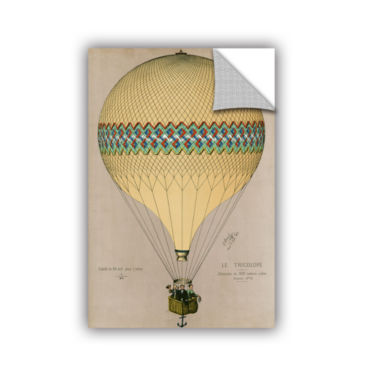 Brushstone The Balloon 'Le Tricolore' Ascending In1874 Removable Wall Decal