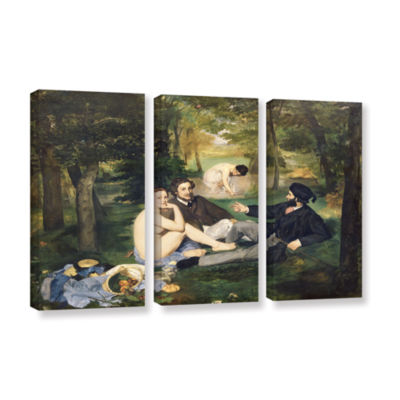Brushstone Dejeuner sur I'Herbe 3-pc. Gallery Wrapped Canvas Wall Art