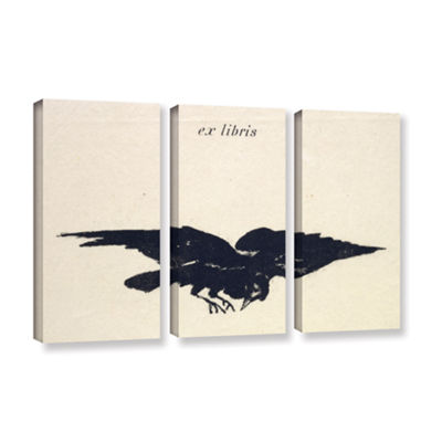 Brushstone Le Corbeau (The Raven) 3-pc. Gallery Wrapped Canvas Wall Art