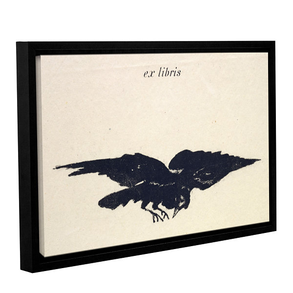 Brushstone Le Corbeau (The Raven) Gallery WrappedFloater-Framed Canvas Wall Art