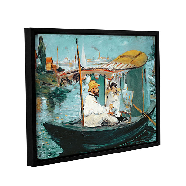 Brushstone Monet in his Floating Studio Gallery Wrapped Floater-Framed Canvas Wall Art