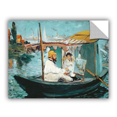 Brushstone Monet in his Floating Studio RemovableWall Decal
