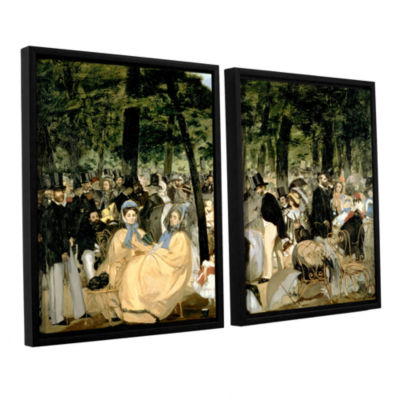Brushstone Music in The Tuileries 2-pc. Floater Framed Canvas Wall Art