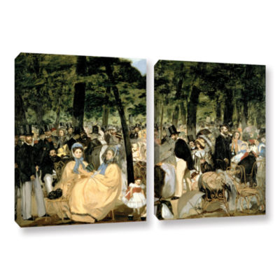 Brushstone Music in The Tuileries 2-pc. Gallery Wrapped Canvas Wall Art