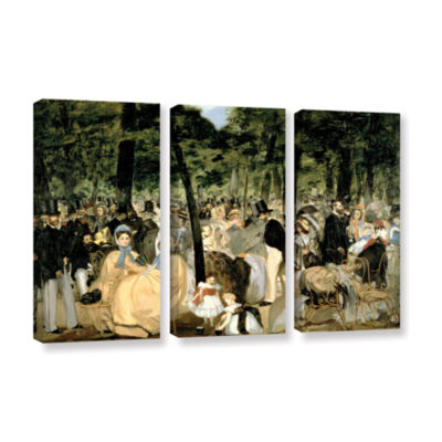 Brushstone Music in The Tuileries 3-pc. Gallery Wrapped Canvas Wall Art