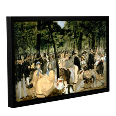 Brushstone Music in The Tuileries Gallery WrappedFloater-Framed Canvas Wall Art