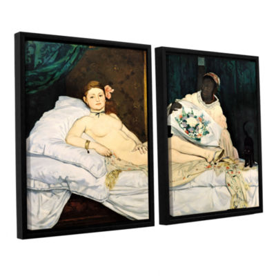 Brushstone Olympia 2-pc. Floater Framed Canvas Wall Art