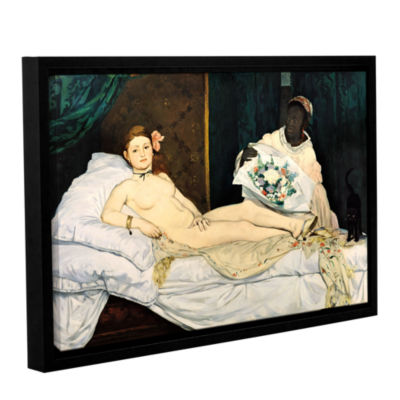 Brushstone Olympia Gallery Wrapped Floater-FramedCanvas Wall Art