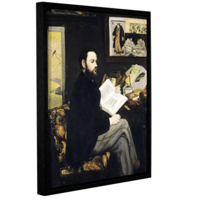 Brushstone Portrait of Emile Zola Gallery WrappedFloater-Framed Canvas Wall Art