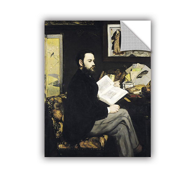 Brushstone Portrait of Emile Zola Removable Wall Decal