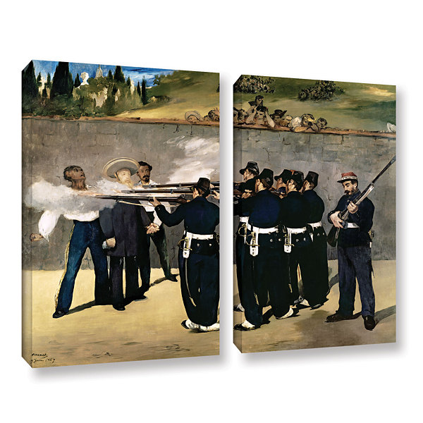 Brushstone The Execution of Emperor Maximilian 2-pc. Gallery Wrapped Canvas Wall Art
