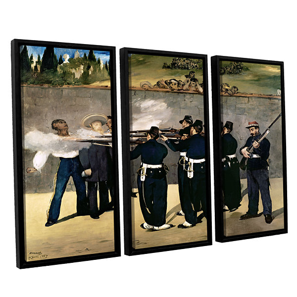 Brushstone The Execution of Emperor Maximilian 3-pc. Floater Framed Canvas Wall Art