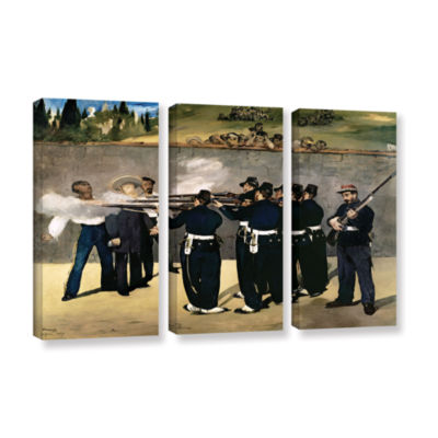 Brushstone The Execution of Emperor Maximilian 3-pc. Gallery Wrapped Canvas Wall Art