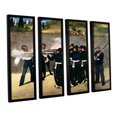 Brushstone The Execution of Emperor Maximilian 4-pc. Floater Framed Canvas Wall Art