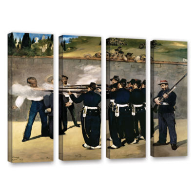 Brushstone The Execution of Emperor Maximilian 4-pc. Gallery Wrapped Canvas Wall Art