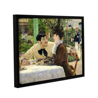 Brushstone The Garden of Pere Lathuille Gallery Wrapped Floater-Framed Canvas Wall Art