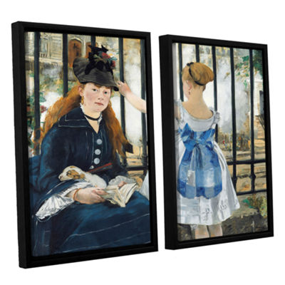 Brushstone The Railway 2-pc. Floater Framed Canvas Wall Art