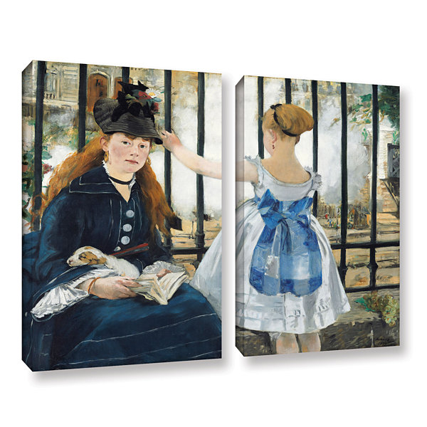 Brushstone The Railway 2-pc. Gallery Wrapped Canvas Wall Art