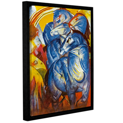 Brushstone A Tower of Blue Horses Gallery Wrapped Floater-Framed Canvas Wall Art