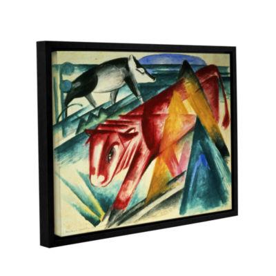 Brushstone Animals Gallery Wrapped Floater-FramedCanvas Wall Art