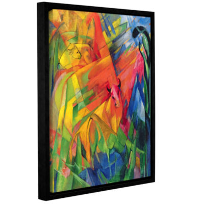 Brushstone Animals in a Landscape Gallery WrappedFloater-Framed Canvas Wall Art
