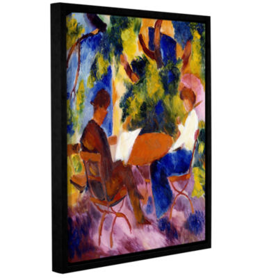 Brushstone At The Garden Table Gallery Wrapped Floater-Framed Canvas Wall Art