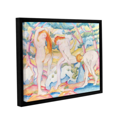 Brushstone Bathing Girls Gallery Wrapped Floater-Framed Canvas Wall Art