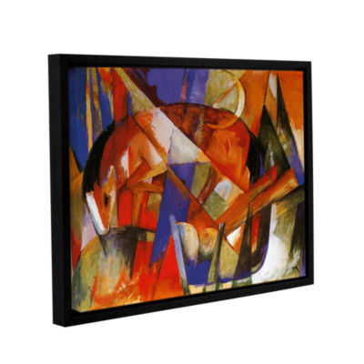 Brushstone Beast II Gallery Wrapped Floater-FramedCanvas Wall Art