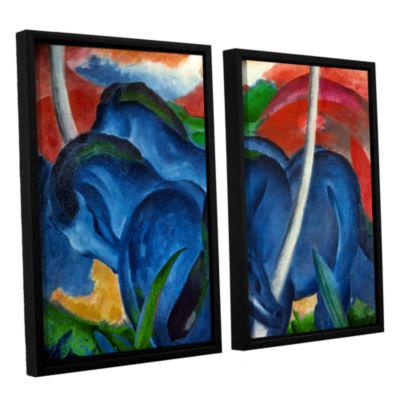 Brushstone Big Blue Horse 2-pc. Floater Framed Canvas Wall Art