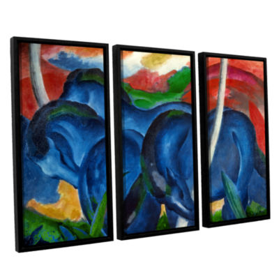 Brushstone Big Blue Horse 3-pc. Floater Framed Canvas Wall Art