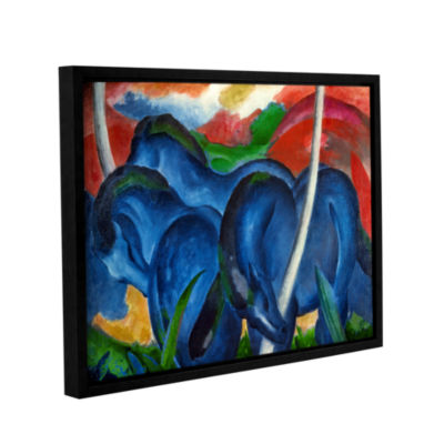Brushstone Big Blue Horse Gallery Wrapped Floater-Framed Canvas Wall Art