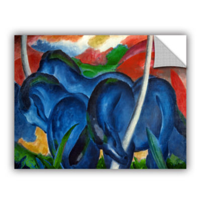 Brushstone Big Blue Horse Removable Wall Decal