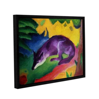 Brushstone Blue Fox Gallery Wrapped Floater-FramedCanvas Wall Art