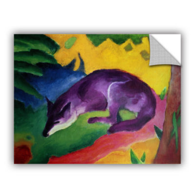 Brushstone Blue Fox Removable Wall Decal
