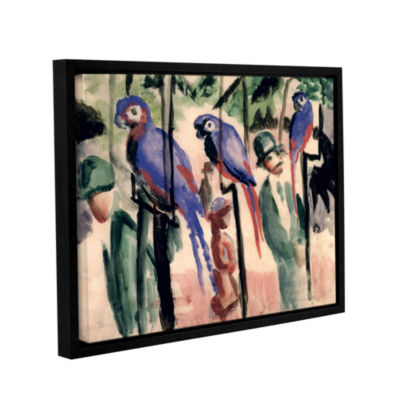 Brushstone Blue Parrots Gallery Wrapped Floater-Framed Canvas Wall Art