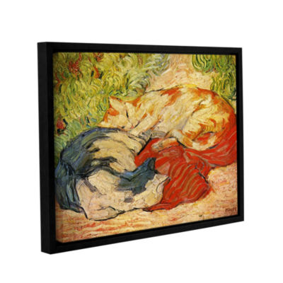 Brushstone Cats Gallery Wrapped Floater-Framed Canvas Wall Art