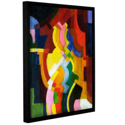 Brushstone Colored Forms III Gallery Wrapped Floater-Framed Canvas Wall Art
