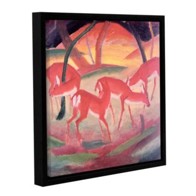 Brushstone Deer Gallery Wrapped Floater-Framed Canvas Wall Art