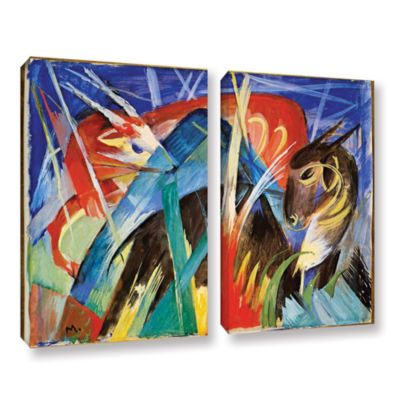Brushstone Fairy Animals 2-pc. Gallery Wrapped Canvas Wall Art